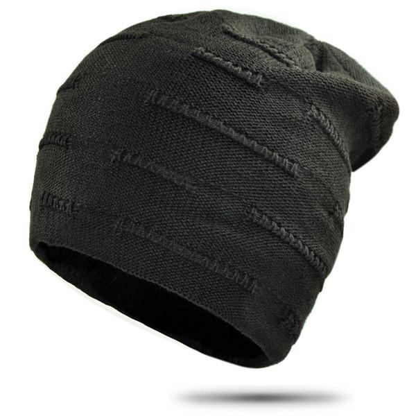 Hip Hop Mützen für Männer Einfache Feste Gestrickte Wintermütze Frauen Dicke Warme Skullies Slouchy Baggy Cap