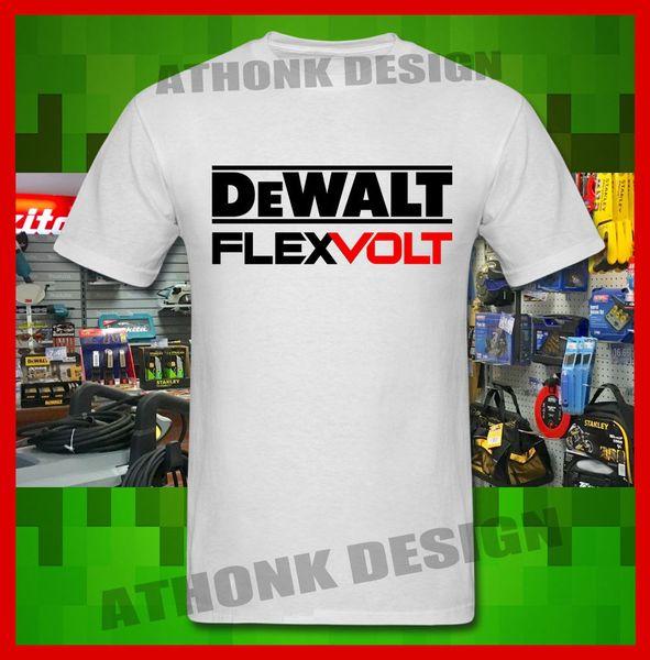 Power Tools Flexvolt TEE SHIRT T-SHIRT Mens 2018 fashionable Brand 100%cotton Printed Round Neck T-shirts cheap wholesale