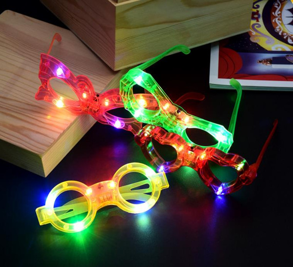 Resplandor Sunglass Chlidren Adultos Navidad Halloween Obturador Persianas LED Iluminar Parpadear Parpadear Gafas Gafas de sol Atmósfera de fiesta Apoyos