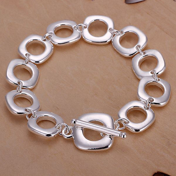 Fine 925 Sterling Silver Bracelet,XMAS New Style 925 Silver Chain The quartet Bracelet For Men Fashion Jewelry n Link Italy Percing XH106