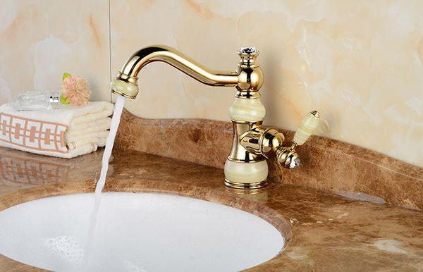 BAOLINLONG Estilo antiguo de latón bowlder cubierta montaje baño grifo vanidad recipiente lavabos mezclador lavabo grifo solo grifos