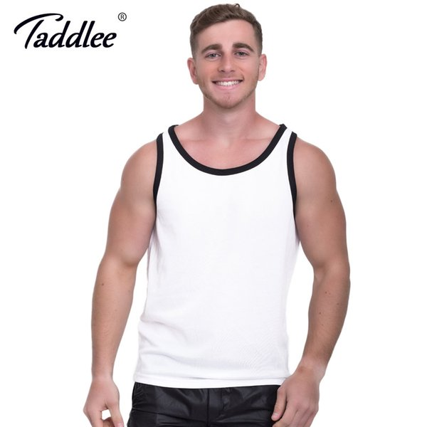 Taddlee Brand Men Tank Top Tees Shirts Sleeveless Singlets Stringer Sports Running Bodybuilding Tshirt Solid Color Undershirt