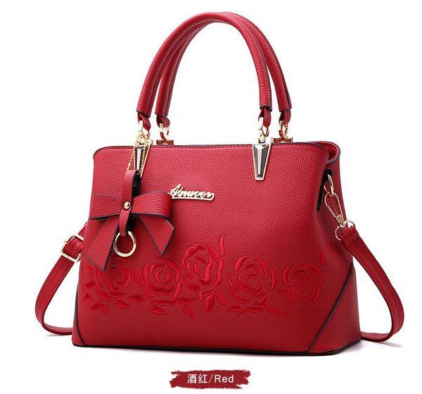 Großhandel 2018 Marke Damen Tasche Einfache Mode Handtasche Kreuz Muster PU Leder Einkaufstasche Große Umhängetasche Ainuoer Von Fashionhouse118,