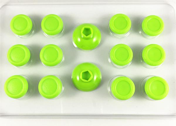 new arrival 14 in 1 Enhanced Candy Green Thumbsticks Thumb Stick Joystick Caps Cover Custom for Sony PS4 Playstation PS4 Pro Slim Controller