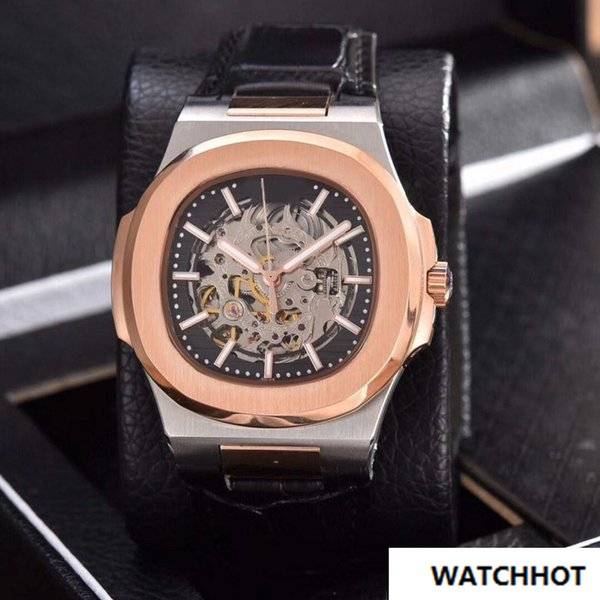 2018 new Automatic machinery 39mm luxury brand watch men Hollow sweeping movement good watch AAA Watch model No battery aaa watches 34