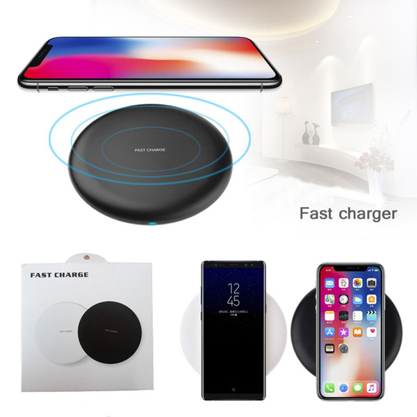 best selling Wireless Fast Quick Qi Charger Charging For iPhone X 8 9V 1.67A 5V 2A For Samsung Galaxy S7 Edge S8 Plus Note 5 7 with Cable