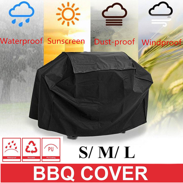 Dustproof Outdoor BBQ Grill Covers Gas Heavy Duty for Home Patio Garden Storage Waterproof Barbecue Grill Cover BBQ Accessories
