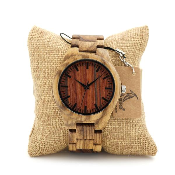 2017 BOBO VOGEL Uhr Männer Marke Handgemachte Holz Uhren Luxus Holzband Casual Armbanduhren relogio masculino C-K27