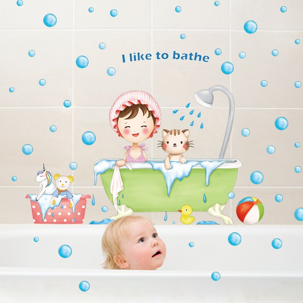 DIY Plane Wall Sticker Wall Stickers Home Decor Bathroom for Baby Shower Happy Decoration Removable Cute Cartoon Decal poster