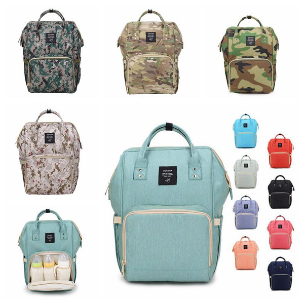 top popular 18 Colors New Multifunctional Baby Diaper Backpack Mommy Changing Bag Mummy Backpack Nappy Mother Maternity Backpacks CCA6787-A 10pcs 2021