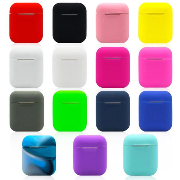 Apple Airpods Silikon Kılıf için Yumuşak Ultra İnce Koruyucu Kapak Kol Kılıfı Hava bakla Kulaklık Durumda 15 renkler