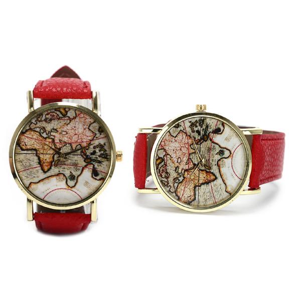 Unique map Travel Men watches  Quartz Wristwatches Watch Globe Graduation Gift for women Wandergift