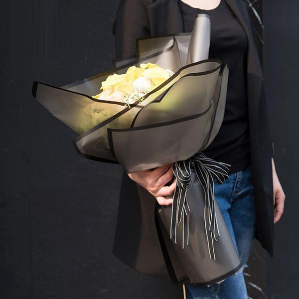 Envoltura de regalo 20 Hojas / lote Papel de empaquetado de flores Material de empaquetado hecho a mano Papel Ramo Floristería Festival Festival Papel de envolver