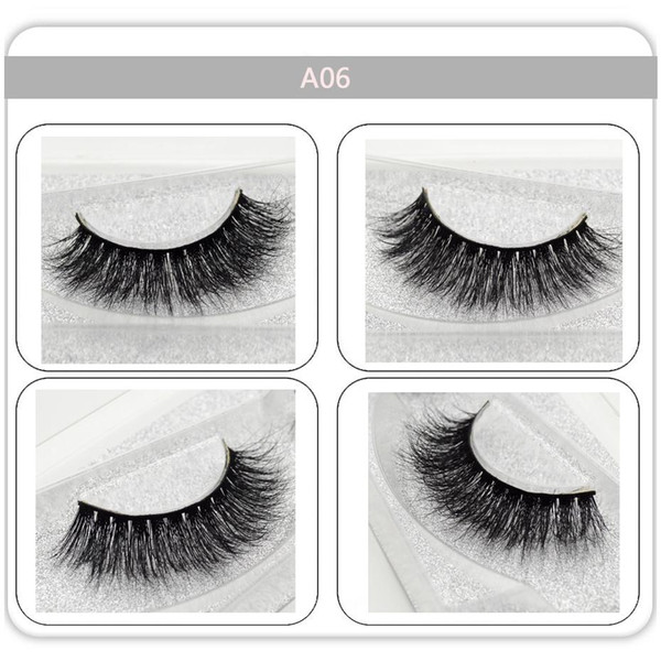 False eye lashes handmade party home Black Thick Soft natural sexy Extension for Beauty Makeup 3D Mink Lashes A06