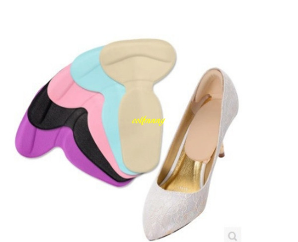 100 paires / lot semelles t-forme chaussures à talons hauts pad super-souple semelle antidérapante éponge coussin pied protecteur de talon