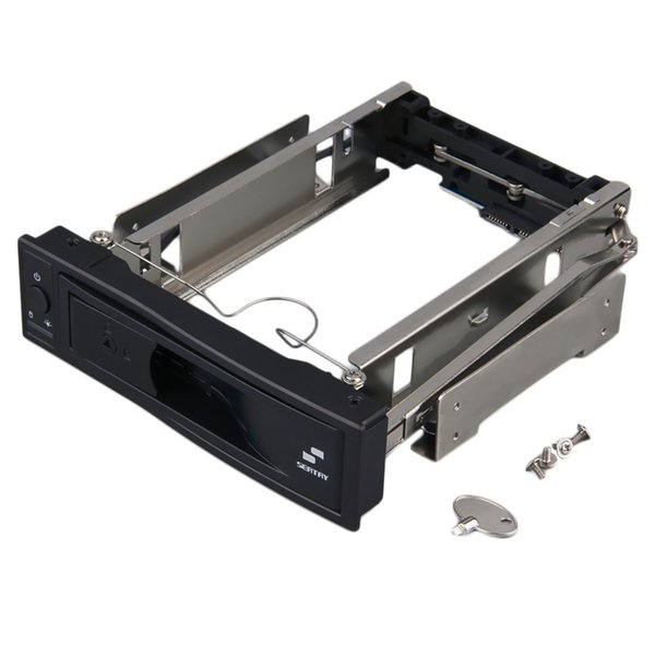 Freeshipping new hot 3.5 inch HDD SATA Hot Swap Internal Enclosure Mobile Rack with Key Lock