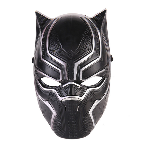 Black Panther Face Mask Halloween Realistico uomo Latex Party Mask Xmas PVC Cosplay Costume Adulti Masquerade Natale Movie Fantastico