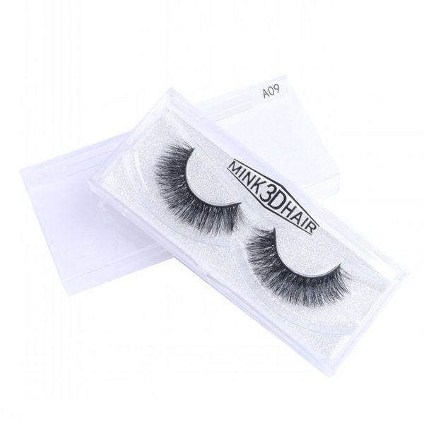 Real Mink Eyelashes 19 Styles Selezionabile 10-16mm 1 Pair Box 100% Handmade Visone Capelli Ciglia finte