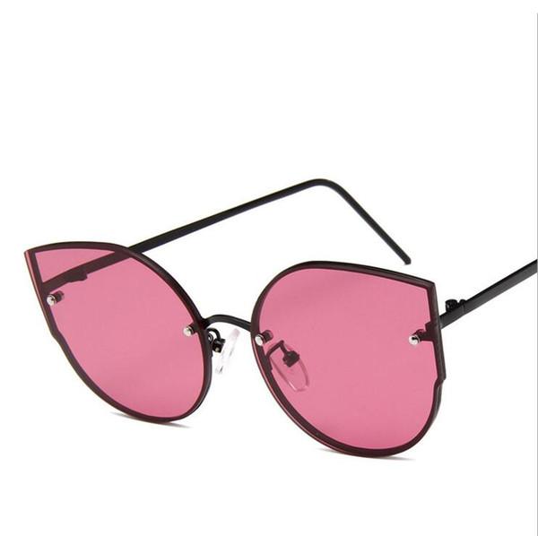 Vintage Sunglasses Women Round Cat eye Sunglasses UV400 High Quality oculos de sol feminino Metal Frame Colorful Glasses