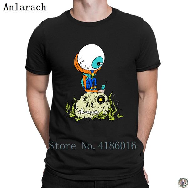 eyePhone t-shirt New Style hip hop homme Summer Style t shirt for men funky cotton simple Natural tee shirt Creature