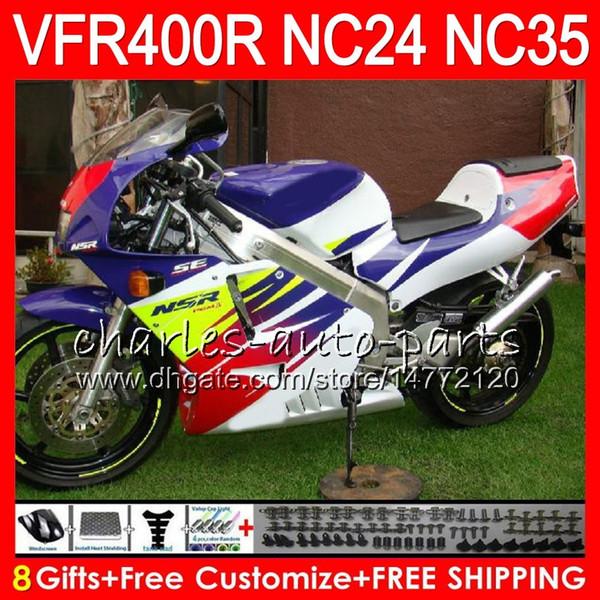 Hot sale blue RVF400R For HONDA VFR400 R NC24 V4 VFR400R 87 88 94 95 96 81HM32 RVF VFR 400 R NC35 VFR 400R 1987 1988 1994 1995 1996 Fairings
