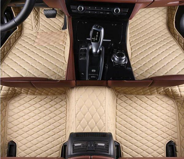 Veeleo Custom-Made 6 Colors Leather Car Floor Mats for Fiat All Model Full Set All Weather Waterproof Anti-slip 3D Car Mats Carpets Liner