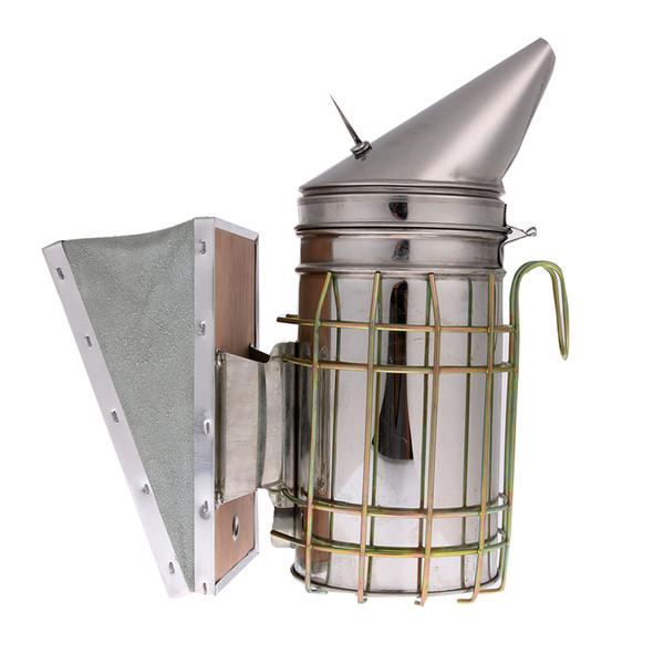 Bouclier de fer En Acier Inoxydable Bee Ruche Smoker Fer Galvanisé Avec Protection De Bouclier Thermique Outil D'apiculture