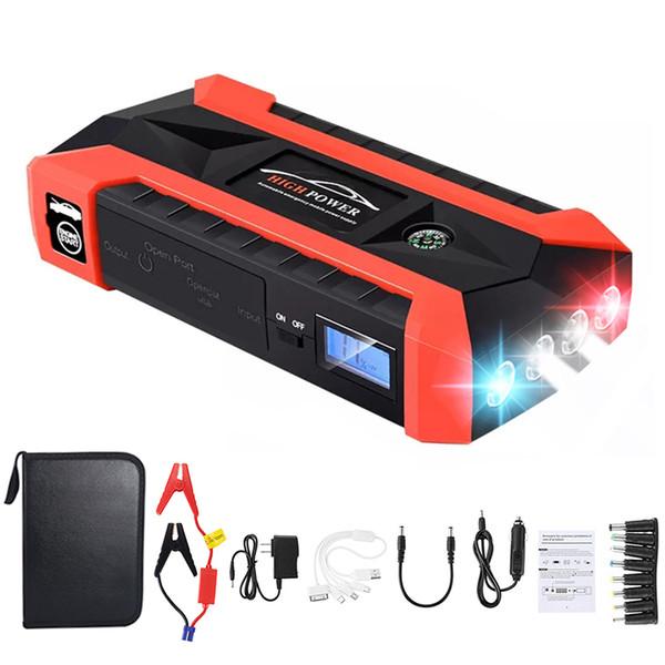 89800mAh 12V LED Car Jump Start Starter 4 USB Charger Battery Power Bank Booster Chargers & Jump Starters Battery Testers & Chargers