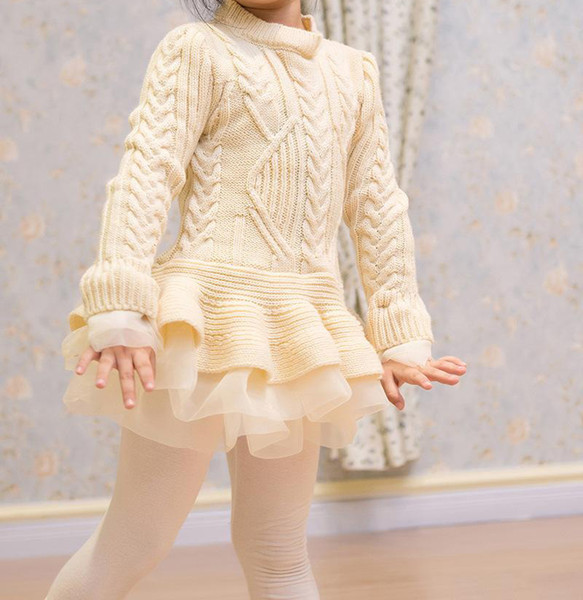 best selling Girls 3 to 7 years fashion sweater, baby children spring fall winter tutu clothes, wholesale boutique Pullover clothing, 5BB406TS-29