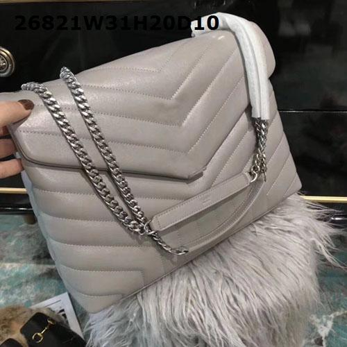Discounted Women shoulder bags smooth real cow leather luxury hardware Chain bags 3 layers pockets competitve prices to resell