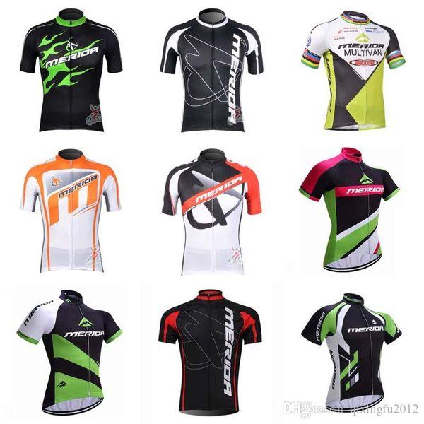 NEU team merida bike jersey herren sommer quick dry radfahren top 100% polyester Ropa Ciclismo kurzarm fahrrad C1333