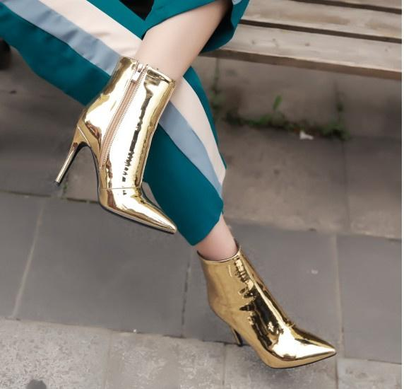 Wholesale Impera Rihanna gold Bottom High Heels Sexy Pointed Toe Pigalle Shoes Women Solid Pumps Women Sandals