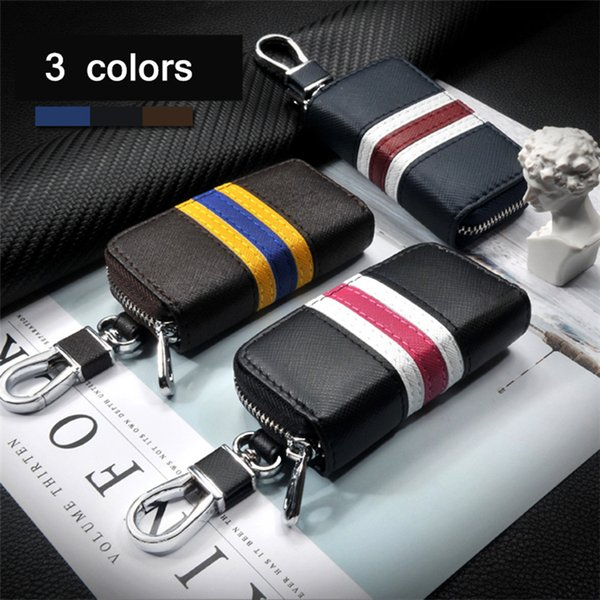 3 Color Leather Car Remote Flip Key Fob Shell Cover Case Car key covers suitable for Honda/TOYOTA/Volkswagen/Hyundai/Buick/Ford