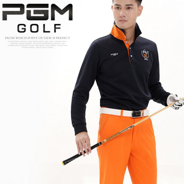 2018 Spring Autumn Pgm Men's Golf T-Shirt Long Sleeve Training T-Shirt For Men Outdoor Breathable Golf Clothing AA11842