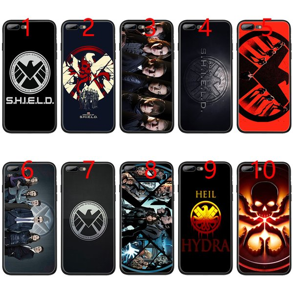 agents of s h i e l d Marvel Soft Black TPU Phone Case for iPhone XS Max XR 6 6s 7 8 Plus 5 5s SE Cover