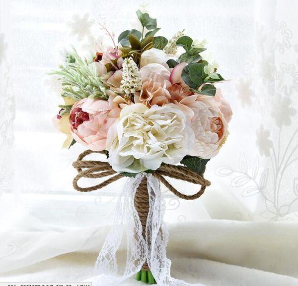 Acheter Pas Cher Mariage Bouquets De Mariée Fleurs Artificielles Pour  Jardin De Mariage Bouquets De Demoiselle D\u0027honneur Avec Cristal Strass  Mariée