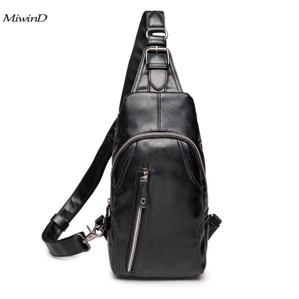 High Quality Leather Men Bags Men's Crossbody Bag Men Messenger Bags Zipper Leather Phone Chest Pack Waist Small Belt Bag Man