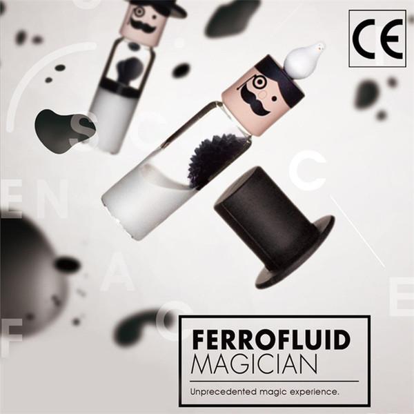 Zylindrisches Ferrofluid in einer Flasche Anti-Stress spielt magnetisches flüssiges Ferrofluid-Flüssigkeits-Anzeigen-Neodym-Magnet-Büro-Spielwaren