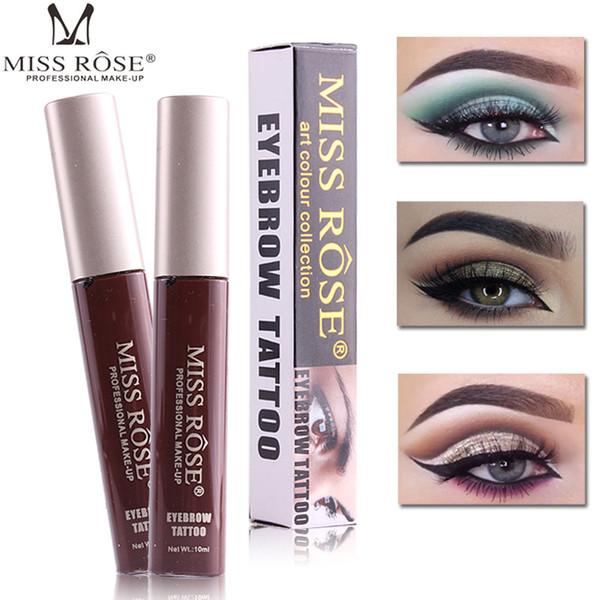 12pcs / lot MISS ROSE einfach zu tragen Flüssigkeit Tattoo Augenbraue Tönung Gel langlebige wasserdichte Pigmente Henna Eyebrows Augenbraue Gel Make-up