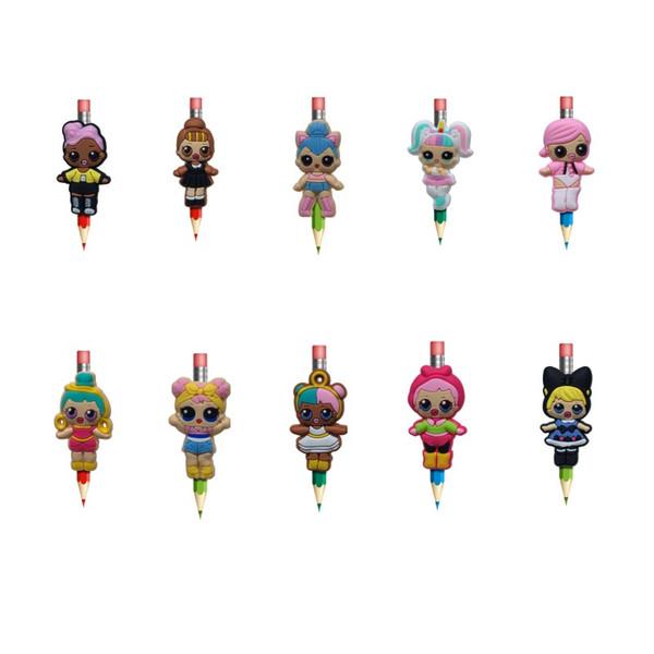 LOL creativo figura bolígrafos de escritorio artículo de la oficina para niños regalos pluma Topper lápiz decoración de dibujos animados recuerdo envío gratis