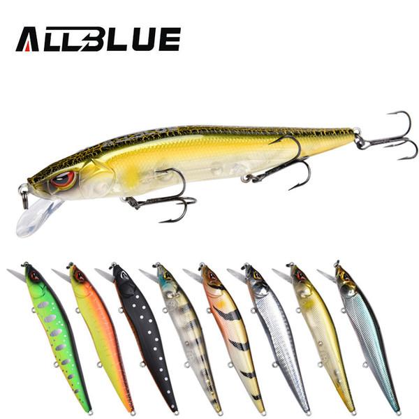 ALLBLUE MIHAWK 110SF Jerkbait Fishing Lure 110mm 14.1g Slow Floating Wobbler Minnow Bass Pike Bait Fishing Tackle MUSTAD Hooks Y1890402