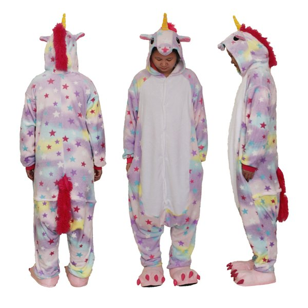 Adult Animal Onesie Pajamas Cosplay Costume Unisex One Piece Kigurumi Pajamas Unicorn