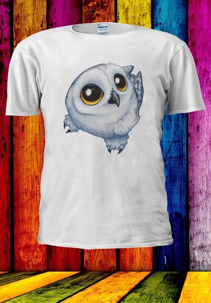 Owl Bird Drawing Cool Tumblr Animal Cute Instagram Uomo Donna T-shirt unisex 971100% T-Shirt estiva manica corta in cotone
