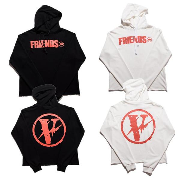 Vlone Hoodies Men Women High Quality V Sweatshirts Cotton Hoodie Skateboard Hip Hop Street Friends Vlone Hoodies