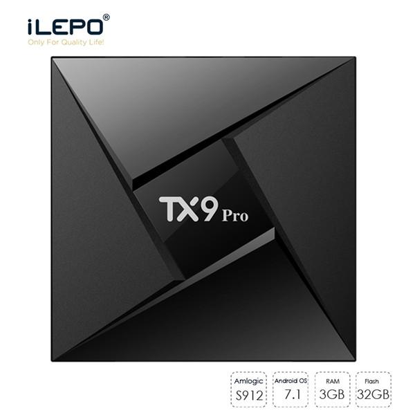 TX9 PRO TV BOX S912 Octa Core Android 7.1 BOX TV 3G 32G 2.4G 5G WiFi Bluetooth Smart TV 4K Media Player