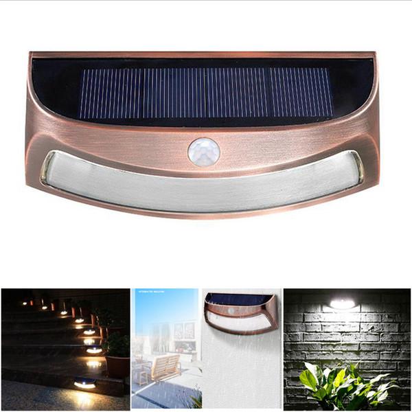LED Solar Lights 8LED Outdoor Sensore di movimento senza fili Lampada da parete con luce di sicurezza per Patio Deck Yard Garden
