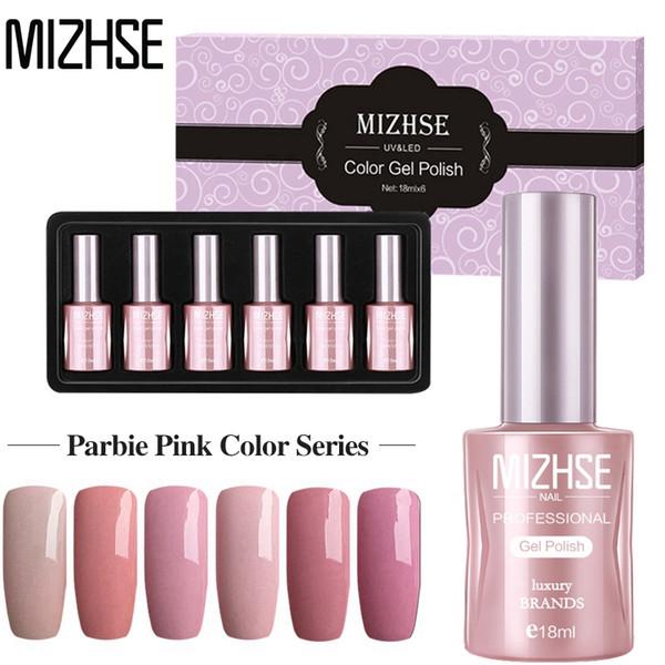 Mizhse Pink Gel Nail Polish 18ml Nail Gel Resin Hard Soak Off Acry Design  Gellak Uv Lamp Hybrid Set Builder Jelly Beauty Nails Nail Shop From  Aikugua,