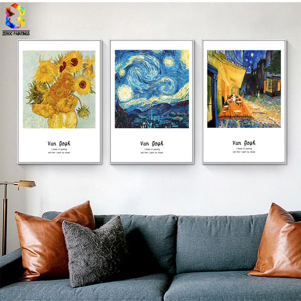 Van Gogh Famous Painting Canvas Art Print Poster Wall Picture for Living Room Decoration Abstract Home Decor