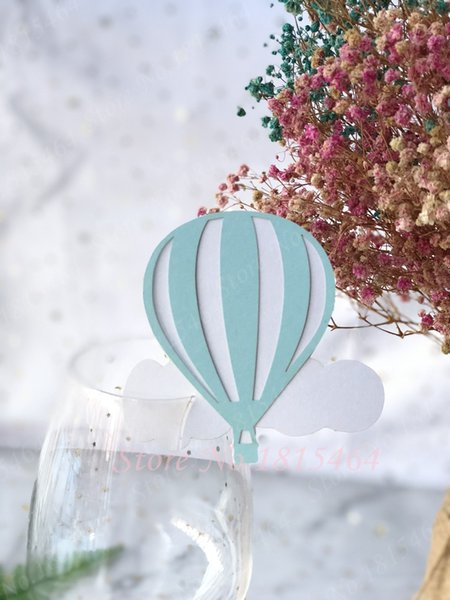 50pcs Balloon Wine Glass Place Name Cards Markers Party Table Invitation Cards Party Event Decoration Supplies