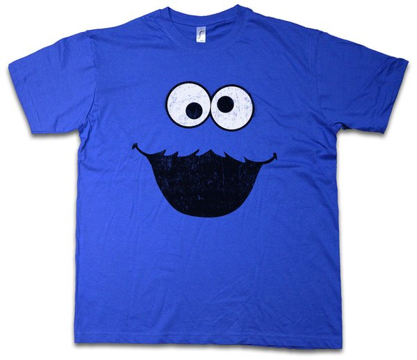 COOKIE MONSTER T-SHIRT Puppet Monster Place Sesamstraße Ernie TV USA Street Funny free shipping Unisex Casual